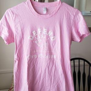 American Apparel Pink Defend New Orleans Tshirt